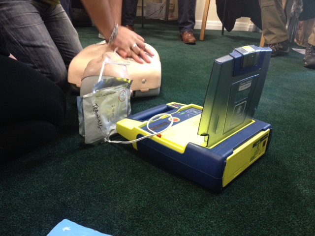 Basic Life support training for dental andAED training from Lazarus Training.
