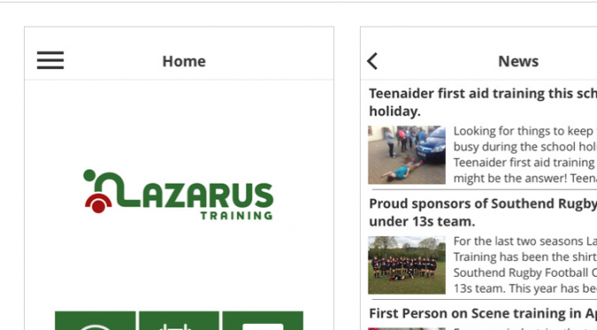 Lazarus Training App is ready for your phone.
