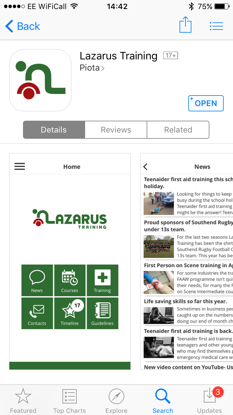 Lazarus Training App